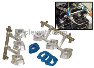 Injector blocks & fuel rails for 930 Turbo, 36mm
